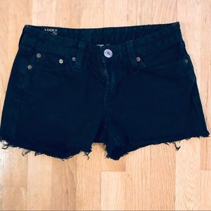 Lucky Brand Black Denim Shorts